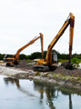 October 2008: The excavators begin their dance.