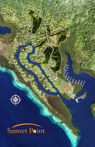 Master Site Plan of Sunset Point, Bocas